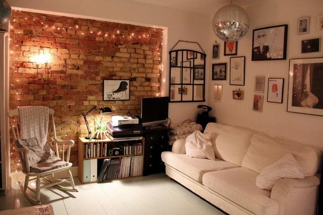 fairy lights living room