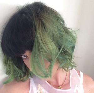 KATY GREEN HAIR