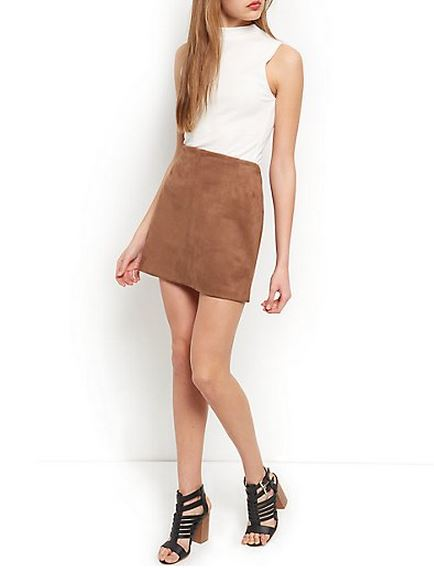 Suede Skirt A Line - Dress Ala