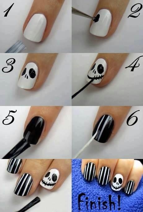 Легкие рисунки для ногтей своими руками