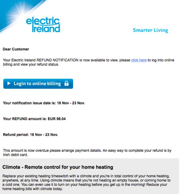 Electric ireland login