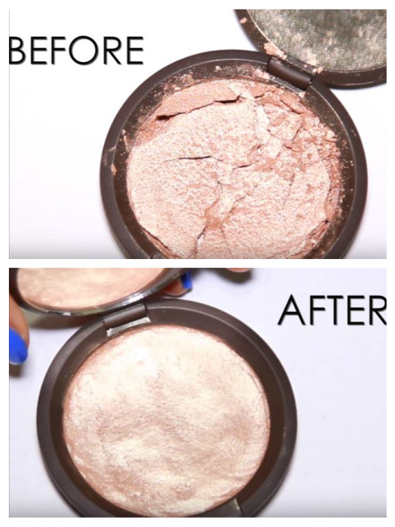 how to fix broken highlighter without rubbing alcohol