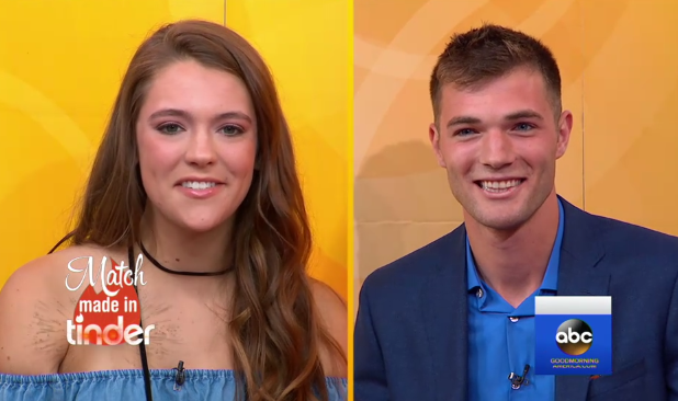 Two students who messaged on Tinder for three years finally meet