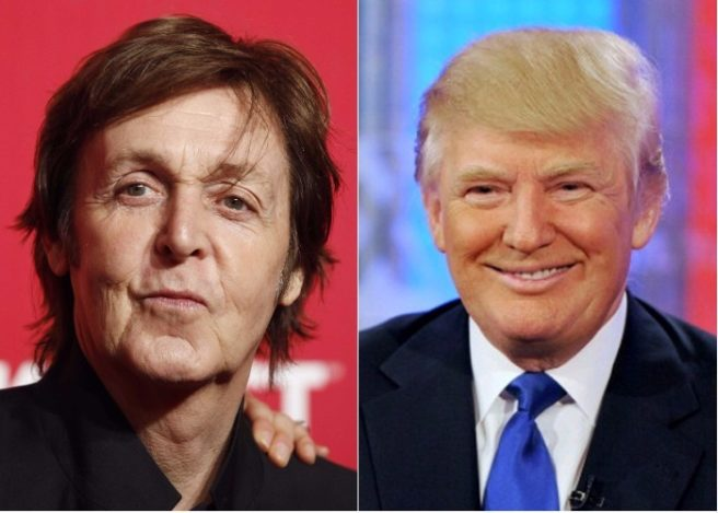 Paul McCartney has written a song about Donald Trump