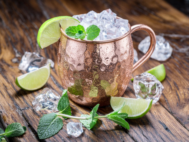 Copper cocktail mugs could give you food poisoning