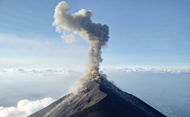 Mount Agung volcano erupts on Indonesia's Bali island