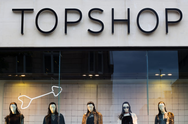 Topshop makes changing rooms gender neutral following customer complaints